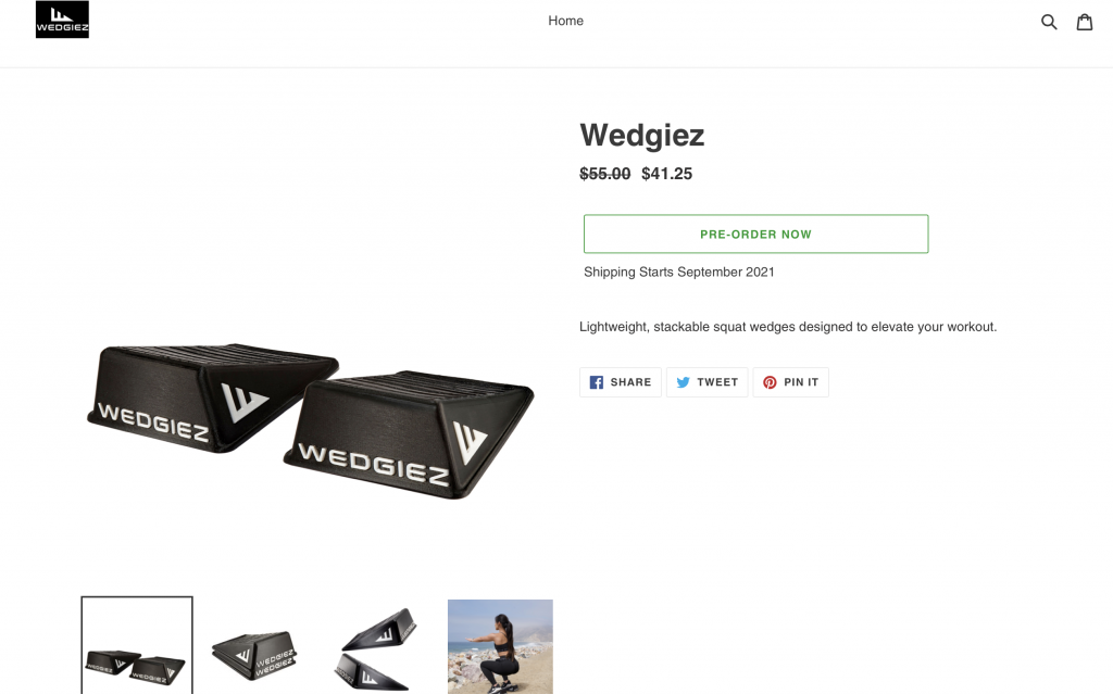 Preorder Now on Wedgiez Product Page